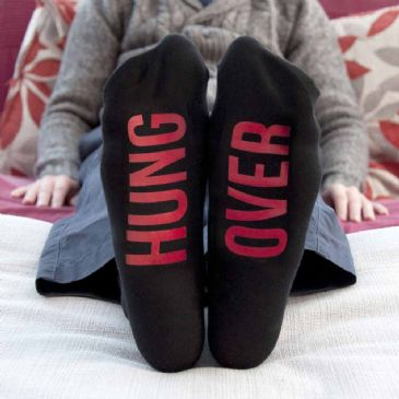 Personalised Jet Black & Crimson Socks